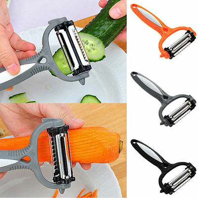 Stainless Steel Rotary Potato Peeler Vegetable Fruit Cutter Kitchen Tool 3 Blade