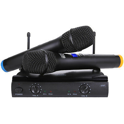 TONOR VHF Wireless Microphone System with LCD Display Dual Handheld  Karaoke Mic