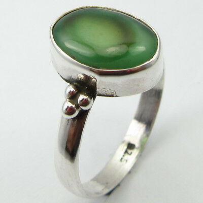 925 STAMPED Sterling Silver Black & Gray BOTSWANA AGATE Ring Size 8.5 ! JEWELRY