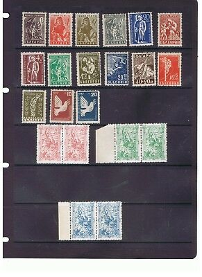 Bulgaria nice lot of 18 different unmounted mint old stamps MNH