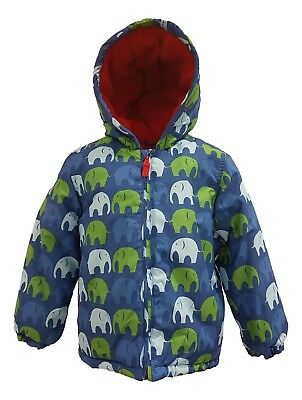Boys Coat Kids Baby Jacket Winter Quilted Puffa Hooded FleeceLined ExToby/Tiger