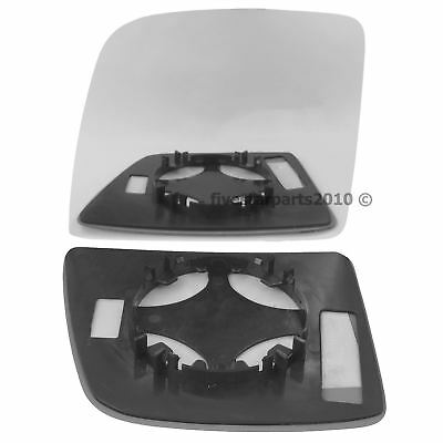 Left Passenger Side Flat wing mirror glass for Ford Transit 2000-14 Heat Plate
