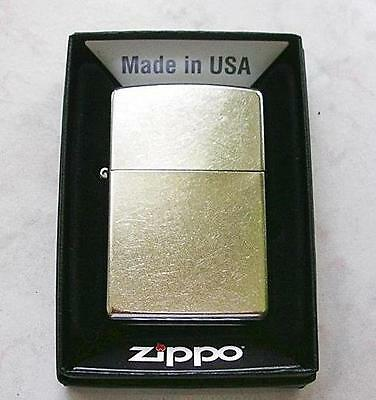 Zippo Brushed Etched Chrome Windproof Lighter Sealed Nib New