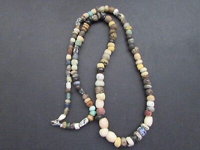 NILE  Ancient Egyptian Amulet Mosaic Mummy Bead Necklace ca 100 BC