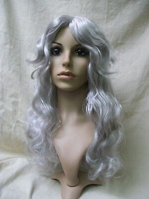 Cemetery Angel Wig Goddess Weeping Statue Snow Ice Queen Ghost Banshee The Witch