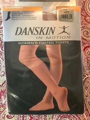 Danskin in Motion Women's Footed Tights Adult DuraSoft Nylon Microfiber A B C D