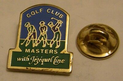 GOLF CLUB MASTERS with JEZEQUEL LINE vintage pin badge