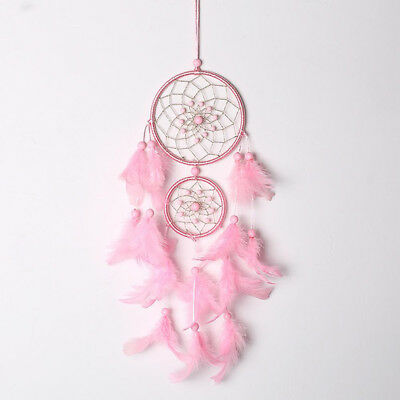 Dream Catcher Dreamcatcher Decor Decoration Gift Pink Girls Feathers Wall Car