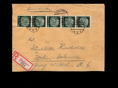 Germany General Government Registered Pulawy Mulitiple 12g 1940 Cover 3k