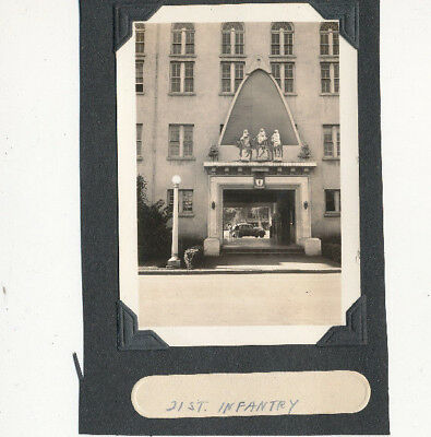 1939 US Army Soldier's Schofield Barracks Hawaii Photo 21st Inf entrance Xmas