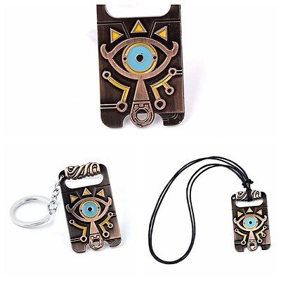 The Legend of Zelda Breath of The Wild Sheikah Eye Pendant Necklace KeyRing New