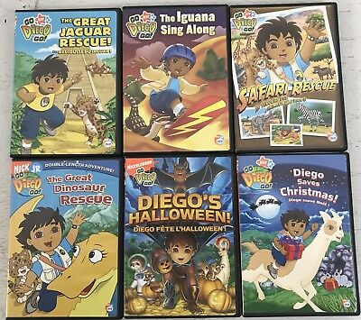 lot of 6 kids children dvds go diego go