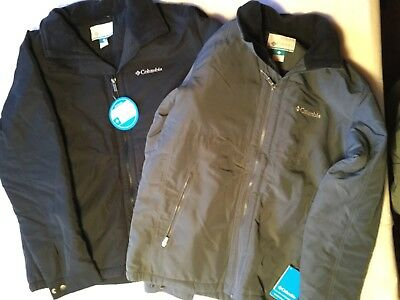 Men's Columbia Northern Voyage Jacket New Tags Black or Gray Water Resistant