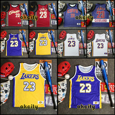 #23 LeBron James LBJ Los Angeles Lakers NBA Jersey Men Child Baby Singlet Vest