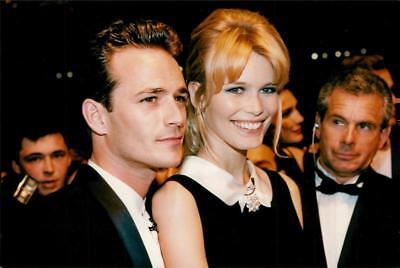 Claudia Schiffer along with Luke Perry at the World Music Awards - Vintage photo