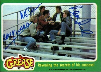 1978 Topps Card #97 Grease  Signed Barry Pearl Kelly Ward Michael Tucci Jsa