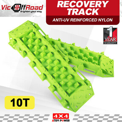 4x4 10T Recovery Tracks Off Road 4WD Sand Trax Snow Mud Tyre Ladder Pair Green