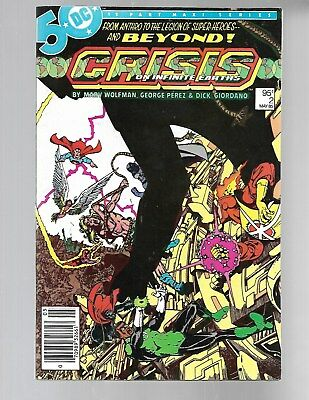 CRISIS ON INFINITE EARTHS#2 1985 1st ANTI-MONITOR Canadian Newstand Price NM 9.2