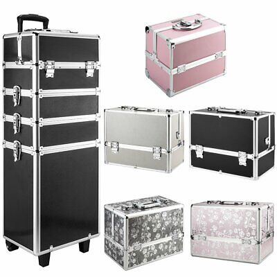 Beauty Cosmetic Box Trolley Extra Large Make Up Case Hairdressing Vanity