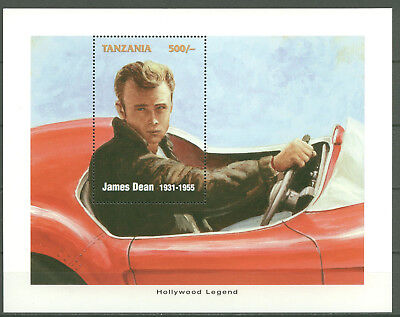 James Dean, Hollywood, Auto, Car - Tansania - 1 Bl. ** MNH (001)