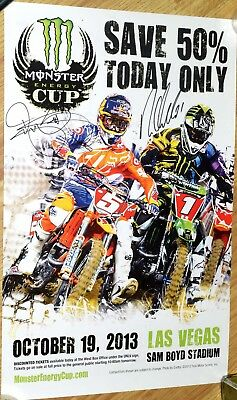 Ryan DUNGEY + VILLOPOTO Signed Monster Energy Cup Poster 2013
