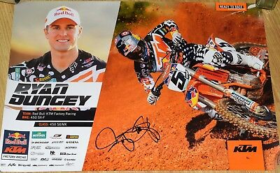 """Ryan Dungey #5 Signed Red Bull KTM Racing Poster 17x24"""""""