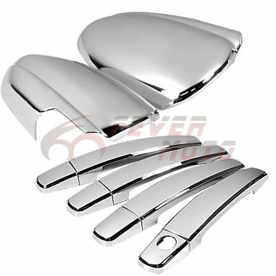 Car Chrome Side Door Handle + Full Mirror Cover Trim For Chevy Cruze 2010-15 FM