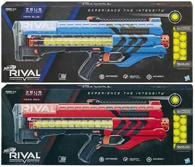Hasbro NERF Rival Zeus MXV-1200 Blaster Outdoor Toys (Blue+Red) NEW