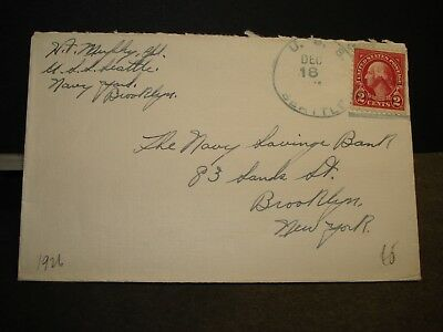 Cruiser USS SEATTLE CA-11 Naval Cover 1926 Sailor's Mail