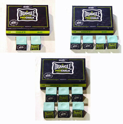 Triangle Light Green Pro Chalk For The Serious Player In Various Quantities