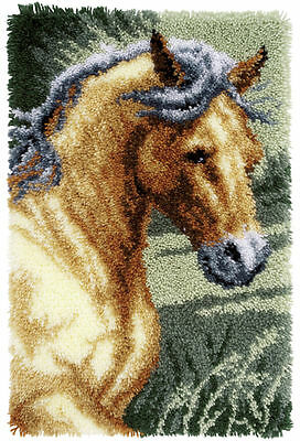 Horse Latch Hook Kit Rug Making Kit  by Vervaco 45x70cm inc tool