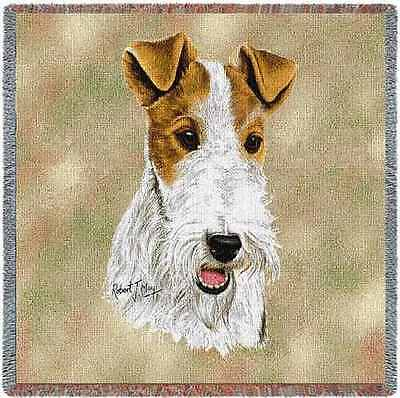 Lap Square Blanket - Wire Fox Terrier by Robert May 2360