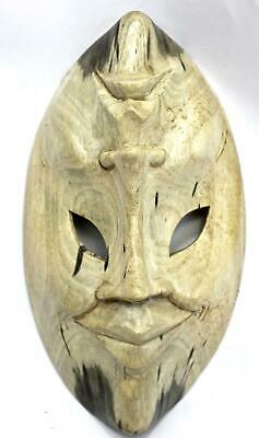 Balinese Mask Comedy Tragedy Wall art Natural Hibiscus hand carved wood Bali