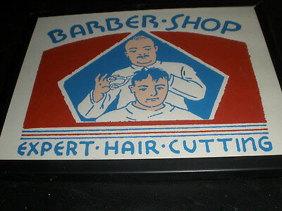 Vintage Barber Shop Wall Art--Barber Shop Expert--- No.93
