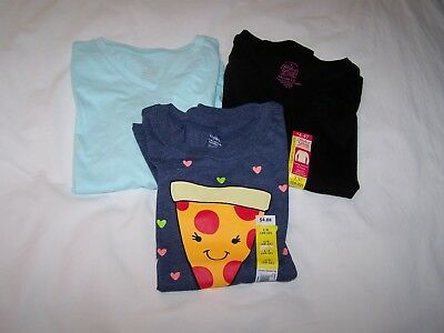 Lot of 3 Shirts for Girl; Size Large 10/12; Faded Glory; New With Tags