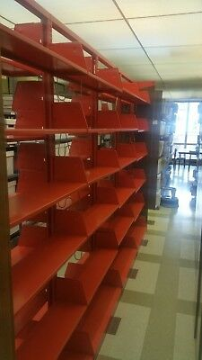 Library shelving metal double sided