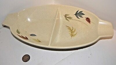"""Franciscan Autumn Leaves Divided Serving Dish 13 1/2"""" Mid-Century Modern Retro"""