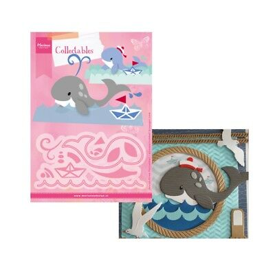 Eline's Whale Metal Die Cut Set Marianne Cutting Dies COL1430 Animals Aquarium