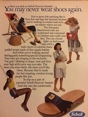 Scholl Sandals, Full Page Vintage Print Ad