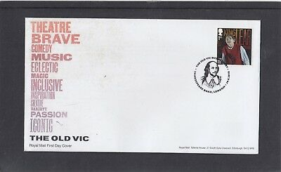 GB 2018 Old Vic single 1st stamp FDC Shakespeare Road London special pmk