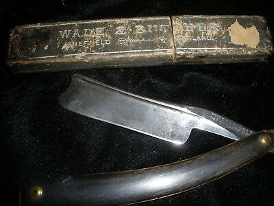 Vintage Wade Barber Use Razor ---15/16 With Case