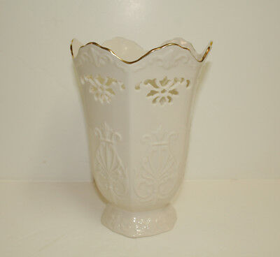 """Lenox  Large Bone China """"LANGTRY""""  8.75"""" Tall Vase  Made in USA Mint"""