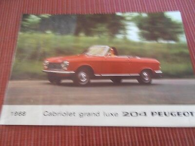 CATALOGUE PEUGEOT CABRIOLET GRAND LUXE 204 ( bref 60 )