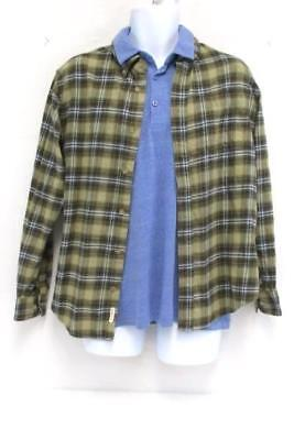 Lot 2 Men's Shirt : Original Weatherproof Vintage Flannel Plaid & H&M Polo M