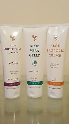 Forever Living Propolis Cream-Aloe Vera Gelly-Aloe Moisturizing Lotion(Trio)