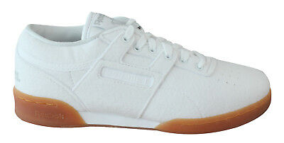 2c7bbad9f44 Reebok x Solebox Workout Low Clean Mens Trainers Lace Up Shoes White BS7684  U110
