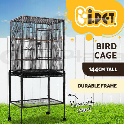 i.Pet Bird Cage Parrot Aviary Pet Stand-alone Budgie Perch Wheels Castor 160cm L