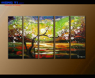 Large Framed Abstract Flower Oil Painting Art Wall Modern Decor on Canvas FY3698