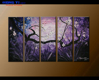 Large Framed Abstract Flower Oil Painting Art Wall Modern Decor on Canvas FY3704