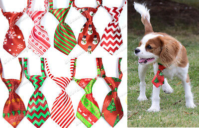 1X Christmas Puppy Dog Cat Small Neck Ties Adjustable Dog Ties Pet Supplies